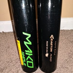 2 Easton Mako Wood Bats